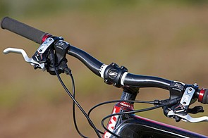 Giant's carbon fibre bars are well shaped, and the other homebrew kit is quality too