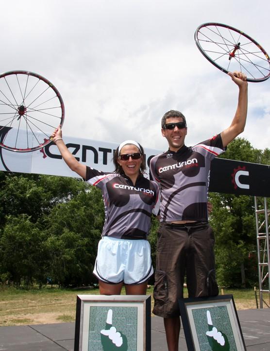Race winners Baker and Emmerman