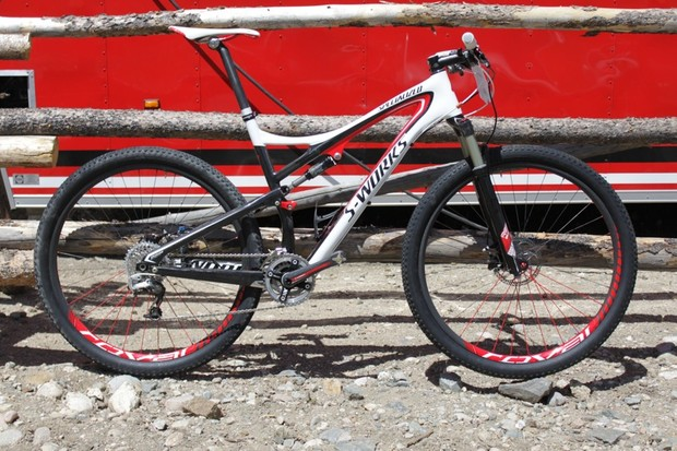 Wells has three rides on his new S-Works Epic 29er and two of them garnered national championship titles