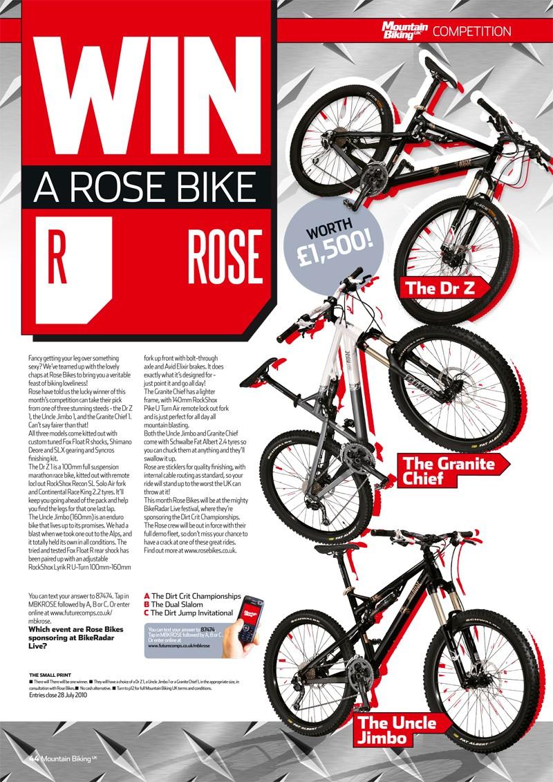 Win a Rose Bike now!