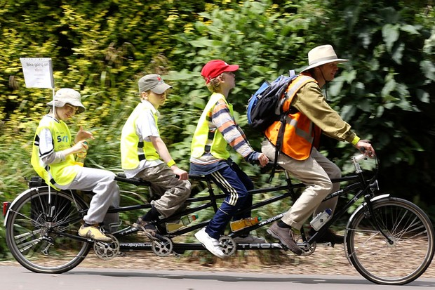 Thousands of cyclists of all ages and abilities took part in the Ealing Sky Ride on Sunday