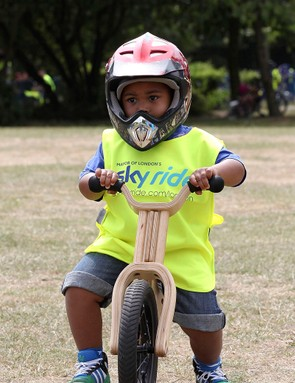 You're never too young to learn to ride