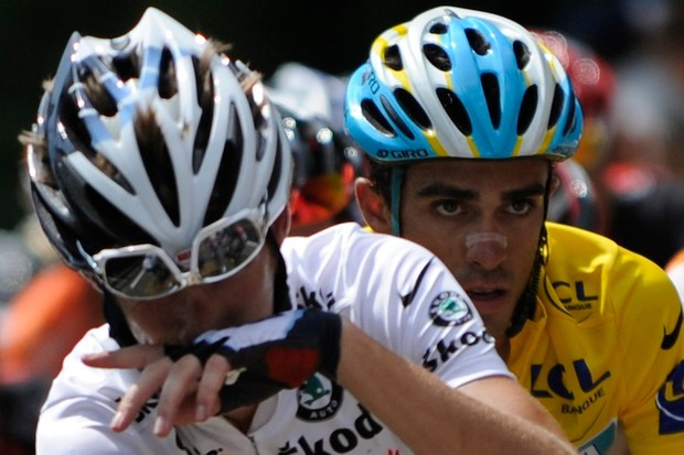 Schleck and Contador are amicable again