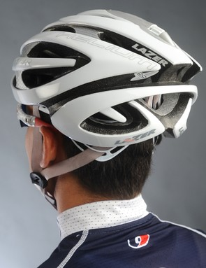 The rear of the Lazer Helium helmet offers good coverage