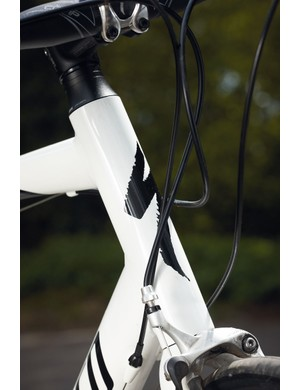 The head tube and high front end are great for comfort but not so good for racing