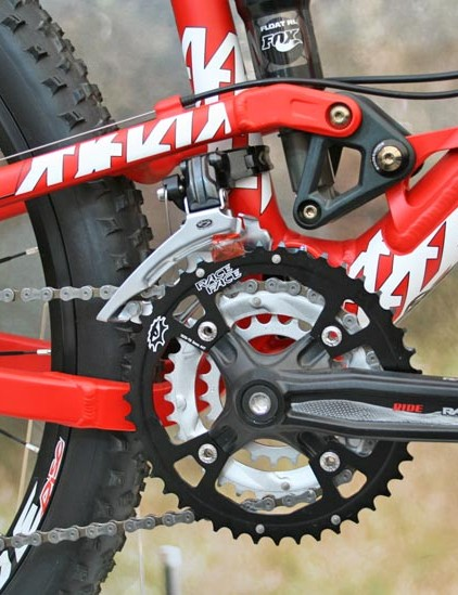 Commencal Super 4 Pro with Race Face Ride XC crankset