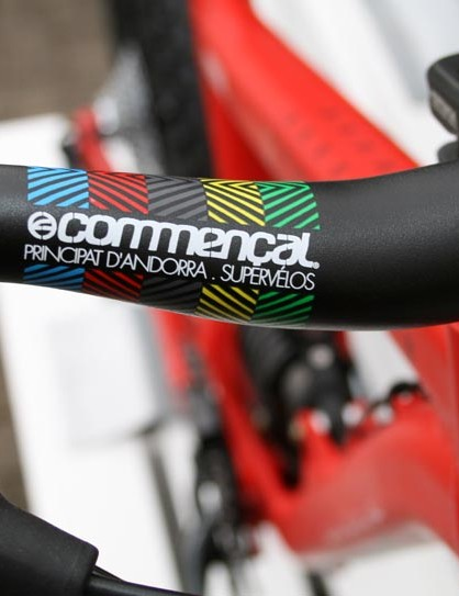 Commencal's own 740mm bars on the Supreme 6