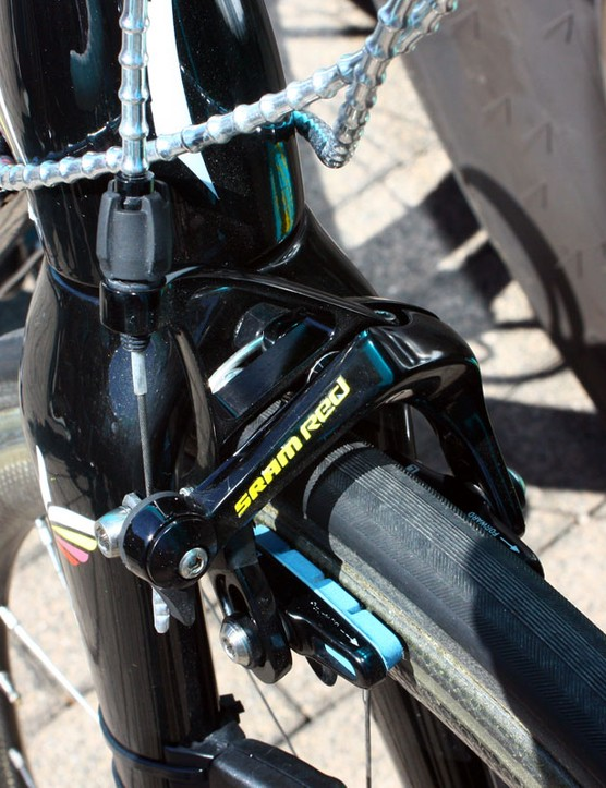 SRAM supplies Contador with its Red LTE group as a two-time Tour de France champion.