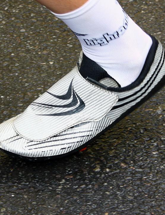 HTC-Columbia's Michael Rogers opts for Bont's latest Zero ultralight road shoe.