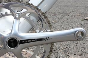 Athena's elegant polished aluminium crankset