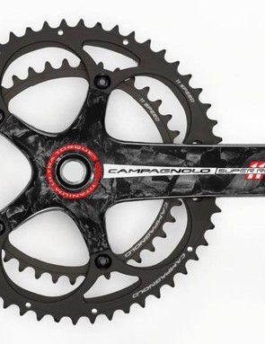 The 2011 Super Record group offers the option of a titanium spindle with the Ultra-Torque crank