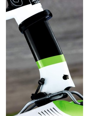 Twin-position seatpost means you can set up the Slice steep and tri, or more conventionally, depending on preference