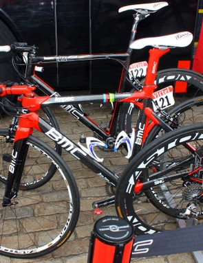BMC's Cadel Evans and George Hincapie are using the company's new Impec model.