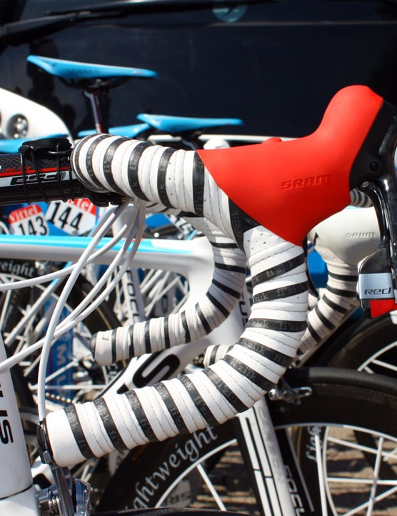 Milram riders have their choice of multiple FSA bar bends.