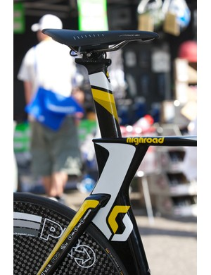The seat post is nicely incorporated into the frame