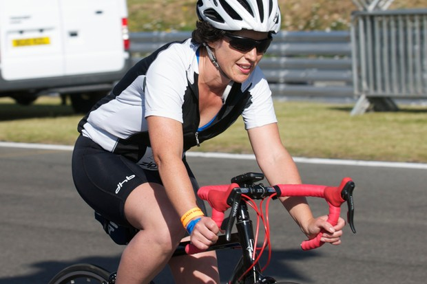 Kay is all smiles on the 100km Cycling Plus Sportive