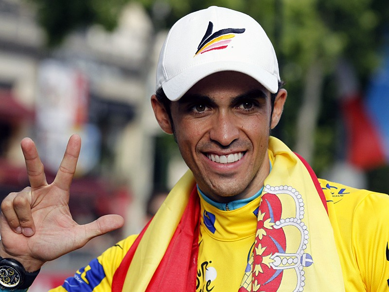 Alberto Contador, three time winner of the Tour de France