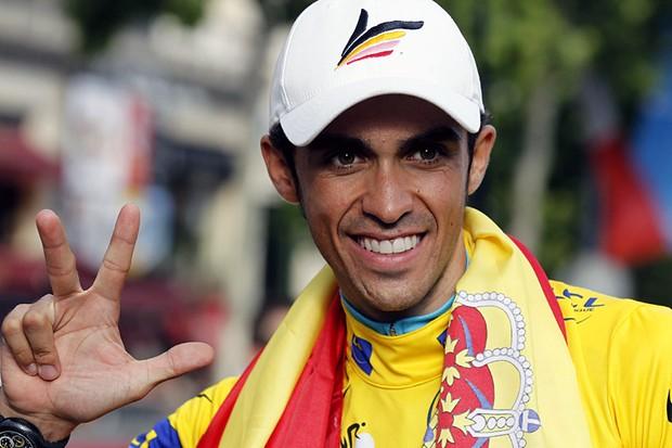 Alberto Contador, three time winner of the Tour de France