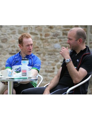 Post ride chat and refuel