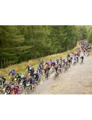 Riders on a previous TransWales challenge