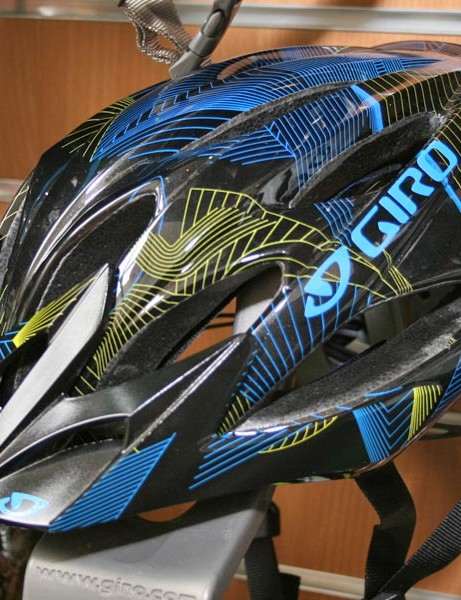 Giro's new Xar in Black/Cyan/Lime Lines