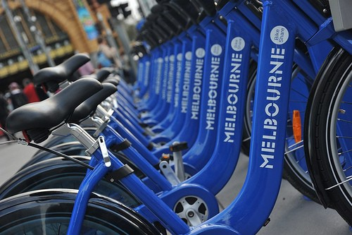 Melbourne Bike Share machines gathering dust