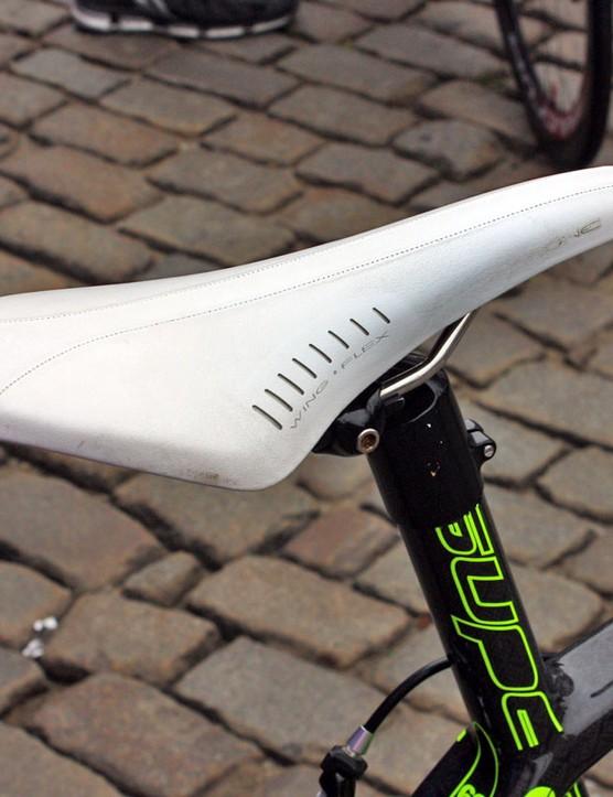 Lampre-Vini Farnese team leader Damiano Cunego's saddle