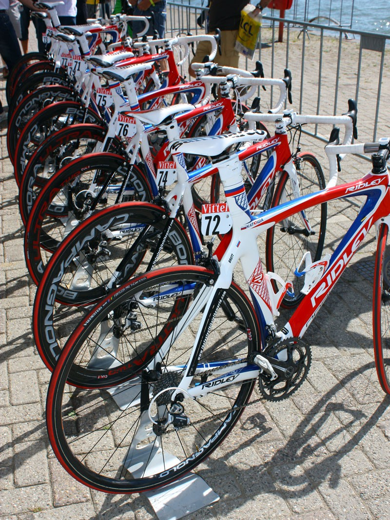 As with all Tour riders, Katusha has a choice of various rim depths to use for any given stage.
