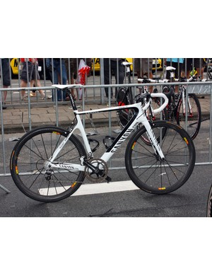 The Omega Pharma-Lotto team occasionally had Canyon's latest Aeroad CF machine on display but it's yet to be raced in this year's Tour de France.