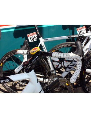 Ritchey cockpits are featured on the Omega Pharma-Lotto team bikes.