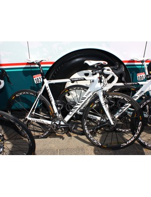German company Canyon provides the Omega Pharma-Lotto team with its top-end Ultimate CF SLX frames.