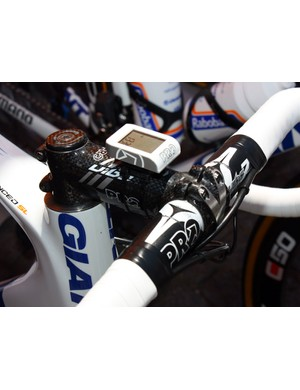 This Rabobank rider is looking to get his bars as low as possible.