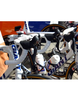 Note the very different shapes of Shimano's mechanical vs. electronic Dura-Ace levers.