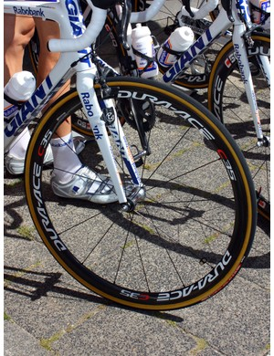 Rabobank riders have a number of Shimano wheels to choose from.
