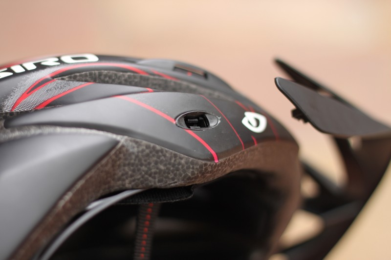 The P.O.V. visor snaps to the shell securely and offers 15-degrees of angular adjustment