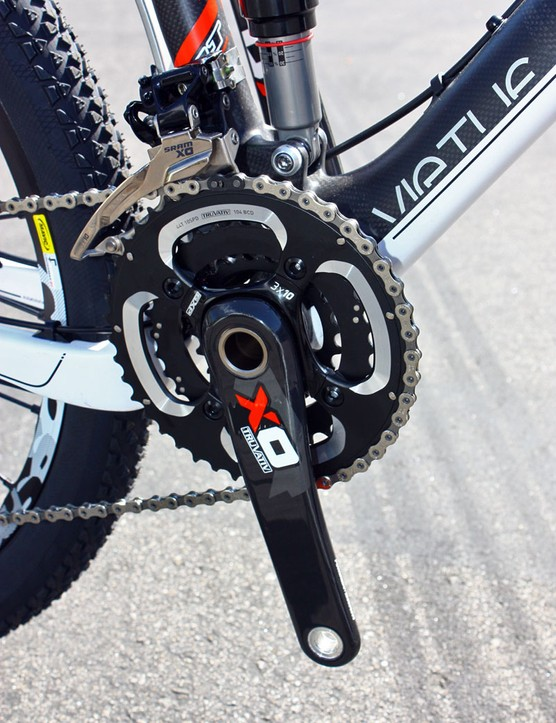 The Virtue Team will come with the 3x10 option for SRAM's X0 group.