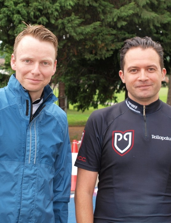 Simon Fry and Paul Drew were another pair of riders who made the trip to Wales from London