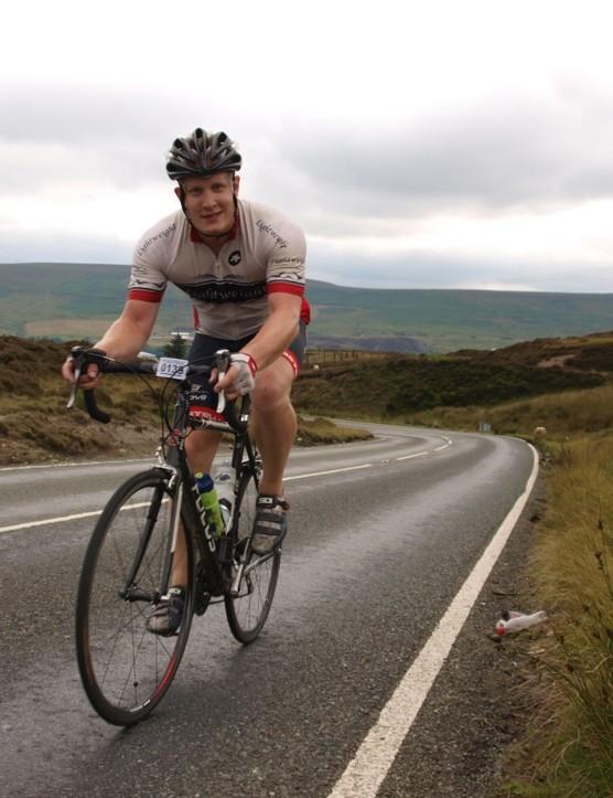 Robert Hallmark tackles the last climb