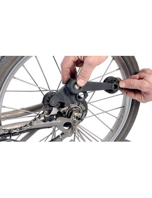 Bromptons require a chain tensioner as they have vertical drop outs