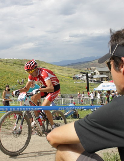 Marc Gullickson takes in the elite men's race during July's national championship event