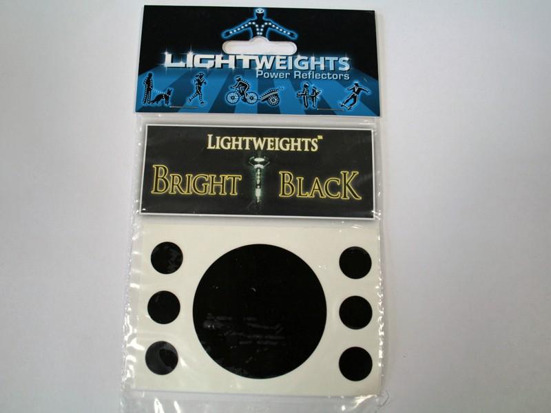 Lightweights Bright Black stickers