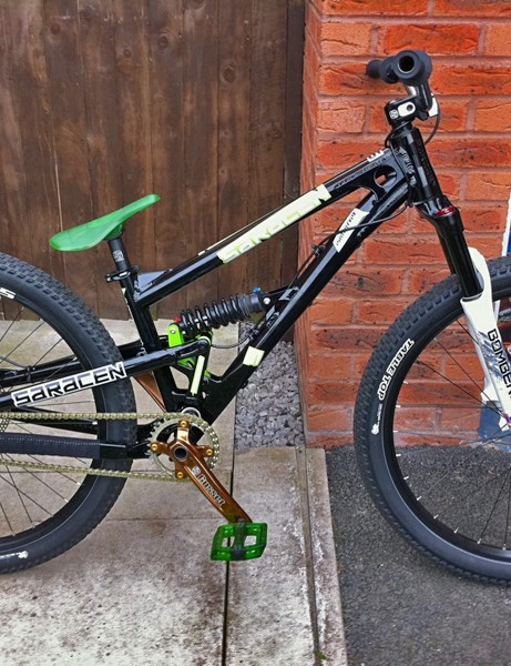 Saracen designer Ryan Carroll has built this prototype short-travel Ariel for team rider Lance McDermott