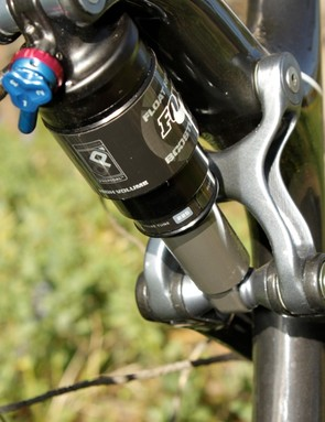We found the Fox RP23 shock's tune a bit off; the rebound seemed too heavy and the ProPedal too light