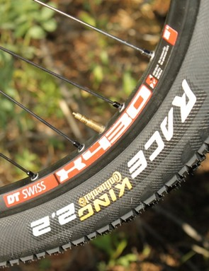 Continental's tall Race King 2.2s rolled fast