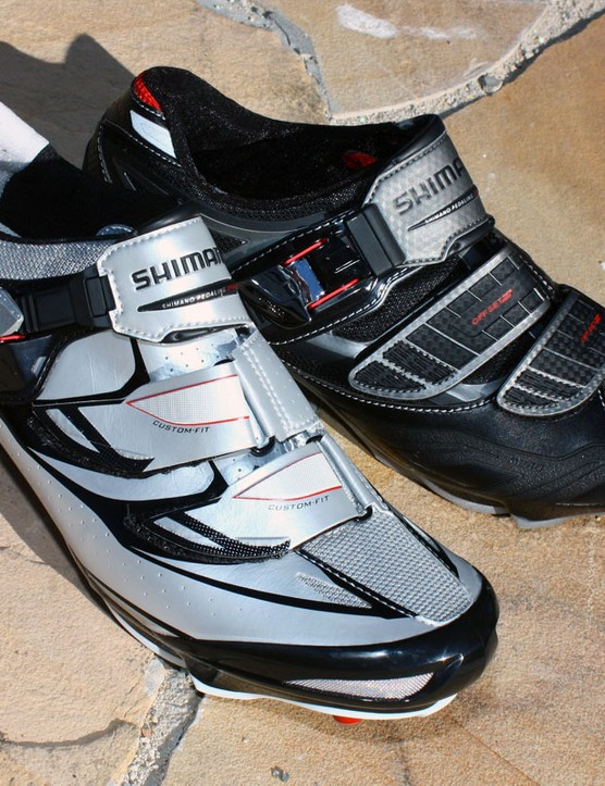 Going along with the new pedals are the new SH-M315 (left) and SH-M240 shoes