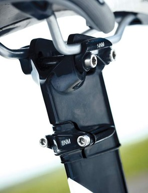 Make sure you measure the weight-saving integrated seatmast very carefully before you cut