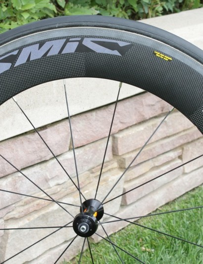 Mavic's newest wheel the CC80 was developed with feedback from Garmin-Transitions