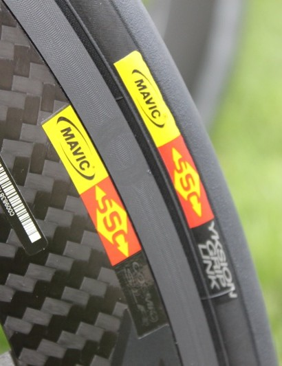 The Exalith rim dramatically improves braking performance and improves strength, according to Mavic