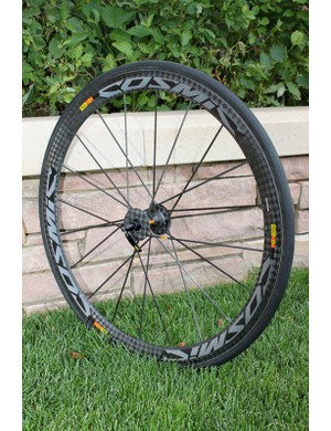 Mavic's go-to ProTour race wheel the Cosmic Carbone Ultimate