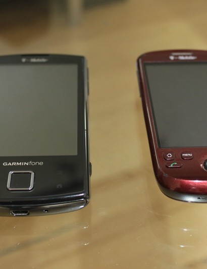 Garminfone's main competition is the T-Mobile myTouch by HTC, ironic that both companies sponsor ProTour teams